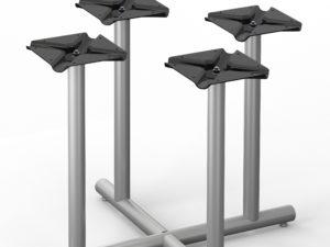 Tubular Series – 111 Radiused X-Base – Four Columns