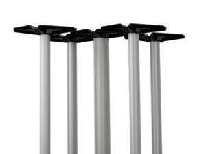 Tubular Series – 212 Bullnosed X-Base – Five Columns