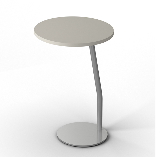 Laptop Table Fixed Height Round