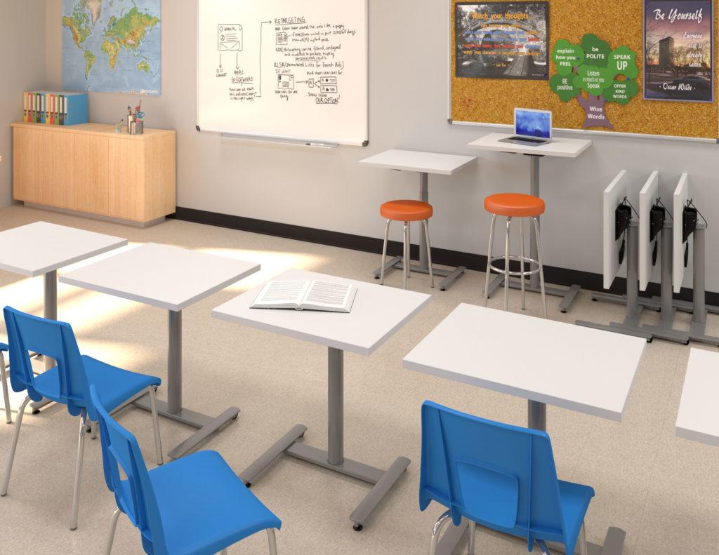 Rendering of classroom