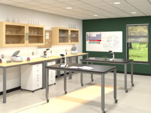 Rendering of a science lab
