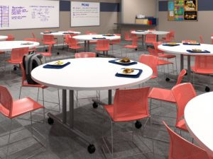 Valley Design multifunctional bases in classroom setting