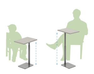 Adjustable Height Laptop Table