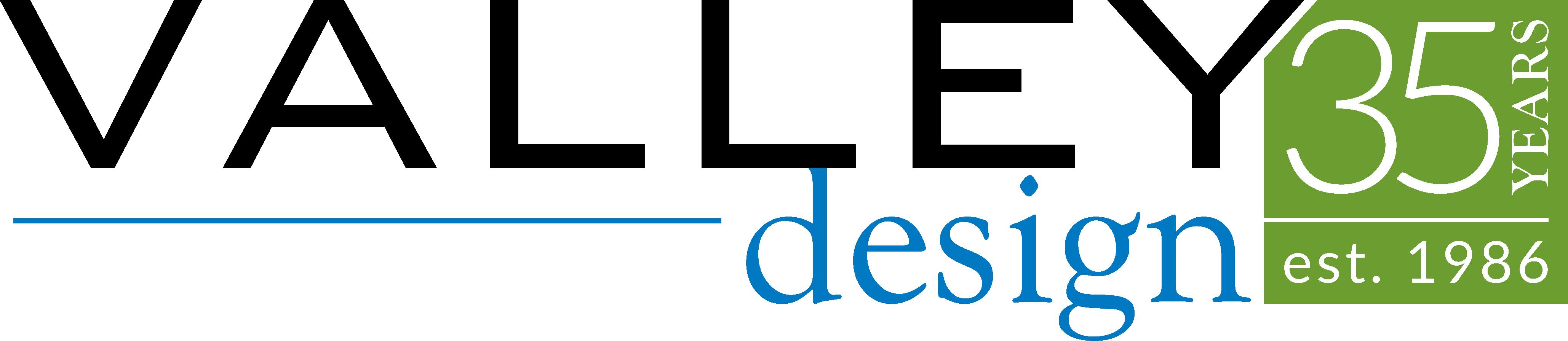 valley design 35 year logo